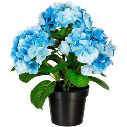 Kunstpflanze Hortensienbusch Hortensie, Creativ green, Höhe 40 cm blau Ø 12,5 cm x 40 cm