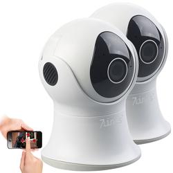 2er-Set Pan-Tilt-IP-Überwachungskamera mit HD, WLAN, App, IP65