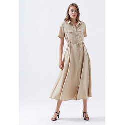 Mavi Maxikleid LONG DRESS Wadenlanges Kleid XS
