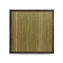 Bambuszaun Bali mit Holzrahmen Bambus Zaun
