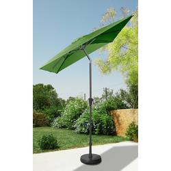 garten gut Sonnenschirm, LxB: 160x230 cm, abknickbar, ohne Schirmständer grün