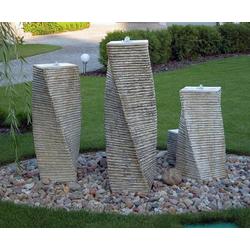 S207007 Brunnensäulen XXL 3er SET Steinsäulen für Brunnen Gartenbrunnen mit Wassersäulen (Lieferumfang: Typ-1)