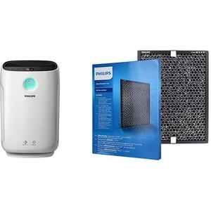 Philips AC2889/10 Luftreiniger Connected (für Allergiker und Raucher, 79m2, CADR 333m3/h, AeraSense Sensor) weiß & Aktivkohlefilter (für Philips Luftreiniger AC2889, AC2887, AC2882, AC3829/10)