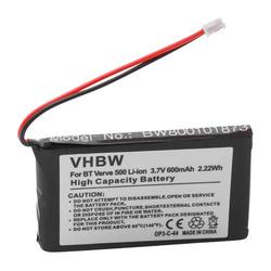 vhbw Akku passend für Supertooth Buddy Freisprecheinrichtung Konferenztelefon (600mAh, 3,7V, Li-Ion)