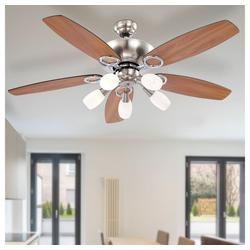 etc-shop Deckenventilator, LED Deckenventilator Ventilator mit Zugschalter und Beleuchtung Lampe Ventilator