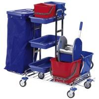 FloorStar RW 1 SOLID, Reinigungswagen Reinigungswagen 1 - verchromt, mit Halterahmen 120 l