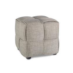 Homestyle4u Polsterhocker, Sitzhocker Grau Sitzwürfel 43 cm x 40 cm x 43 cm