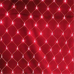 TOPMELON Lichterkette, LED Net Mesh Lichterkette, Wasserdicht, 4 Größen,Weihnachtsdekoration rot 4 cm x 6 m