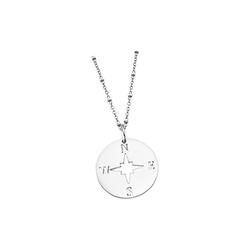 LOTUS SILVER Silberkette JLP1956-1-1 Lotus Silver Kompass Halskette (Halsketten), Damen Kette Kompass aus 925 Sterling Silber, silber