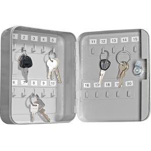 Stahl-Schlüsselschrank für 20 Schlüssel mit 2 Sicherheitsschlüsseln