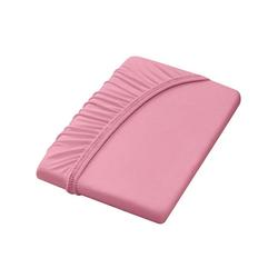 Dormisette Spannbettlaken rosa 90-100 cm x 190-200 cm