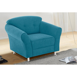 Sessel, mit Federkern blau