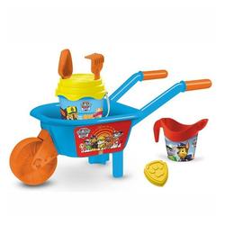 Mondo Outdoor-Spielzeug Paw Patrol Schubkarre mit Eimer 7-teilig Sandspielzeug, (7-tlg)