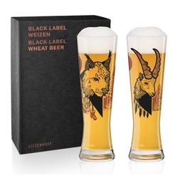 Ritzenhoff Bierglas Black Label Weizen 2er Set Daniel Fatemi, Kristallglas