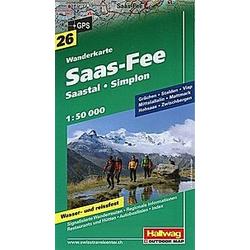 Saas Fee-Saastal-Simplon Wanderkarte Nr. 26  1:50 000 - Buch