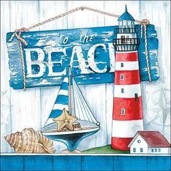 Ambiente Papierserviette Beach, (5 St), 33 cm x 33 cm