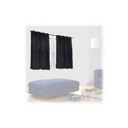 Vorhang Schwarze Vorhänge 2er Set, relaxdays 135 cm x 90 cm