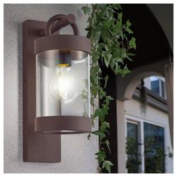 etc-shop LED Laterne, Außen Wand Leuchte ALU Garten Terrassen DOWN Lampe Dämmerungssensor Laterne rost