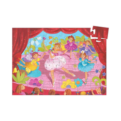 DJECO Puzzle Formen-Puzzle Ballerina mit Blumen, 36 Teile, Puzzleteile