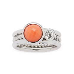 LEONARDO Ring-Set Letizia, 017917, 18, 19 (Set, 2-tlg), mit Glas- und Kristallstein 19