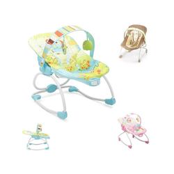 Moni Babywippe Babywippe und Stuhl Merry 2 in 1, mit Musikfunktion und Vibration grün