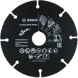 BOSCH Trennscheibe Carbide Multiwheel für Holz, Holz mit Nägeln, Kunststoff, Kupfer, Trockenbauwände