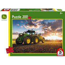 John Deere Traktor 6150R mit Güllefass. Puzzle 200 Teile