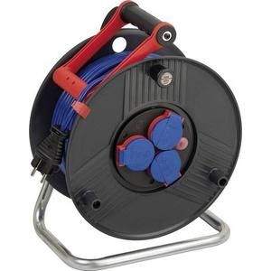Brennenstuhl 1209830 Kabeltrommel 50.00m Blau Schutzkontakt-Stecker
