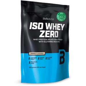 BioTechUSA Iso Whey Zero Premium Protein Isolat Pulver, 500G, Tiramisu