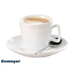 Espresso-Tasse, Inhalt: 0,10 ltr., mit Untertasse, Form CREMA, UNI WEISS,