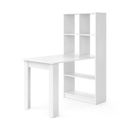 Vicco Regal-Schreibtisch Schreibtisch Gael weiß Computertisch mit Ablage Regal Raumteiler Bürotisch