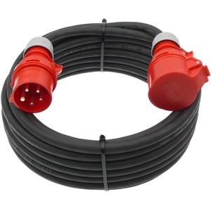 netbote24® CEE Starkstrom Verlängerungskabel 16A H07RN-F 5x2,5mm2 IP44 Außenbereich 5-50m (10m)