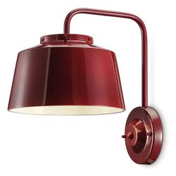 Ferroluce Wandleuchte 50's aus Keramik rot