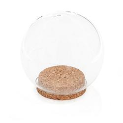 Glaskugel mit Korkboden, 12 cm Ø