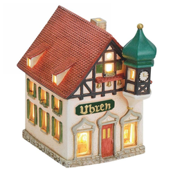 matches21 HOME & HOBBY Kerzenständer Lichthaus Windlicht Uhren Teelichthaus