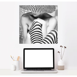 Posterlounge Wandbild, Zack, zack, zack 60 cm x 60 cm