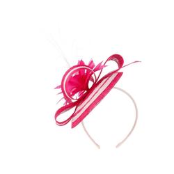 Maja Prinzessin von Hohenzollern Strohhut Fascinator rosa