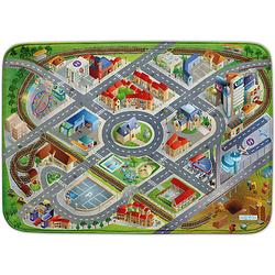 Ultrasoft Spielteppich Stadt grün-kombi Gr. 100 x 150