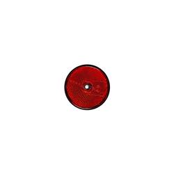 Reflektor 60 mm Rot RUND Seitenrückstrahler Rückstrahler Strahler Schraubbefestigung