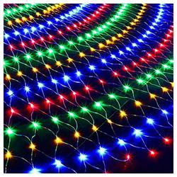 TOPMELON Lichterkette, LED Net Mesh Lichterkette, Wasserdicht, 4 Größen,Weihnachtsdekoration bunt 2 cm x 3 m