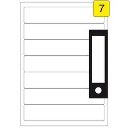 Ordnerrücken Etiketten 192,5 x 39 mm 100 Blatt 700 Stück Inkjet Laser