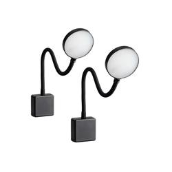 SEBSON LED Steckdosenleuchte LED Steckdosenlampe dimmbar schwarz - 2er Set - Leuchte für die Steckdose 4W, Steckerleuchte flexibel neutralweiß 4000K, Leselampe, Nachtlicht