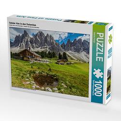 Geisler Alm in den Dolomiten Lege-Größe 64 x 48 cm Foto-Puzzle Bild von Sascha Ferrari Puzzle