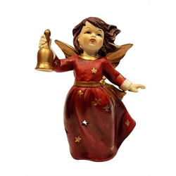 G. Wurm Teelichthalter Engel mit Glocke Teelicht