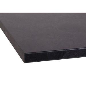 OPTIFIT Arbeitsplatte Luzern, 38 mm stark schwarz 120 cm x 3,8 cm x 60 cm