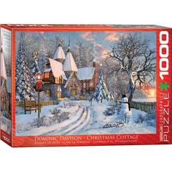 empireposter Puzzle Dominic Davison - Weihnachtliches Landhaus - 1000 Teile Puzzle - Format 68x48 cm, Puzzleteile