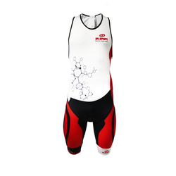 BV Sport Triathlon 3x100 - Triathlon bodysuit - Herren White/Red/Black L
