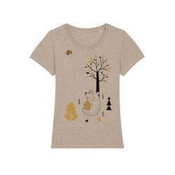 wat? Apparel Print-Shirt Honigbär mit Biene S