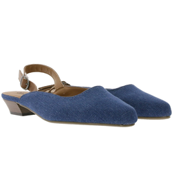 CITY WALK City WALK Absatz-Schuhe modische Damen Sling-Pumps im Jeans Look Stilettos Blau Slingpumps 37