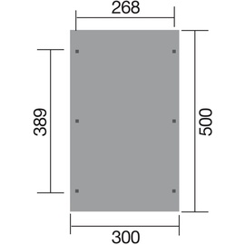 weka Einzelcarport 606 2,68 x 3,89 m kdi
